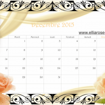 Calendrier décembre 2015 Romantique
