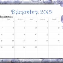 calendrier décembre 2015 Bleu dentelle Ellia Rose