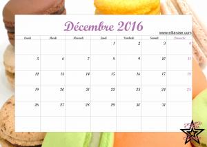 Calendrier Décembre 2016 Ellia Rose