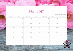 Calendrier 2017 Ellia Rose mai