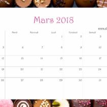 Calendrier Ellia Rose Chocolats 2018 Mars